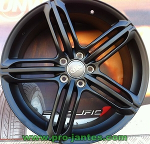 pack jantes audi rs6 black a3 a4 8k b8 s3 tt q3 s tronic. Black Bedroom Furniture Sets. Home Design Ideas